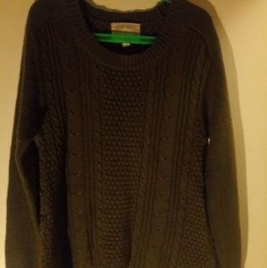 Ambience brown knit pullover sweater size S